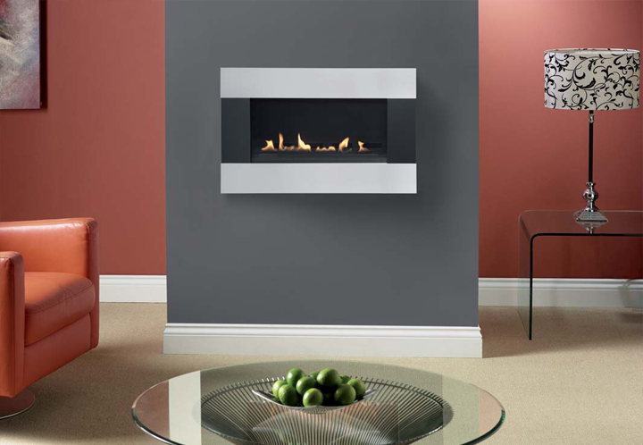 Burley Latitude 4500 wall mounted flueless Gas Fire