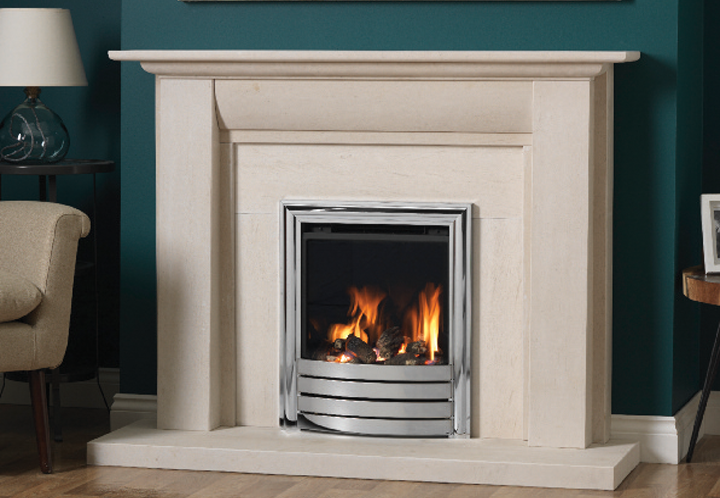 Paragon highly-efficient, glass-fronted, real-flame gas fire