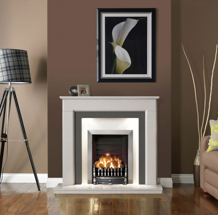 Riverslea Ice White Fireplace Suite